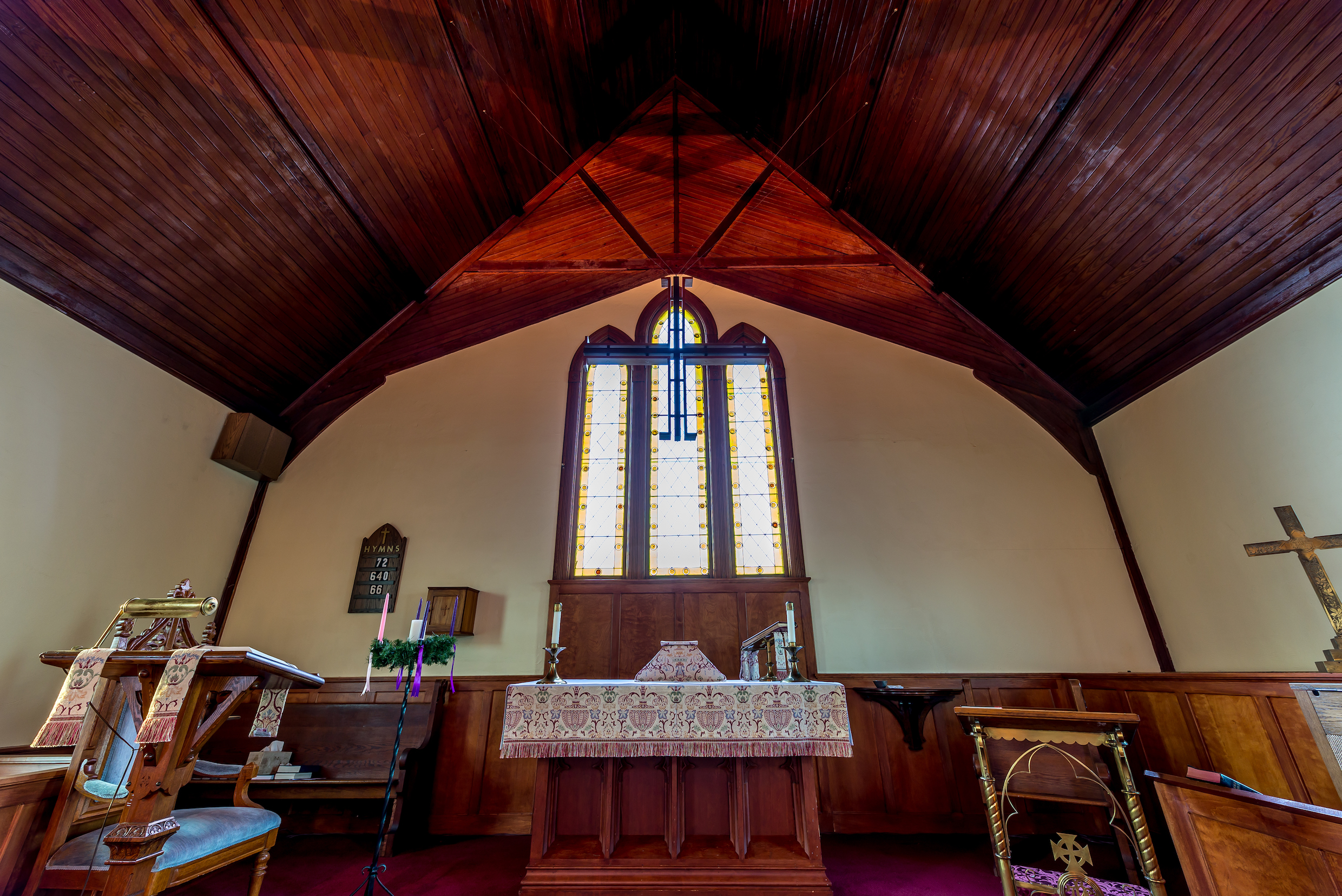The altar at St. Paul's Episcopal in Westbrook, CT