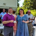 Bishop Ian at a picnic at St. Paul's Episcopal in Westbrook, CT
