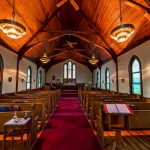 Inside the sanctuary at St. Paul's Episcopal in Westbrook, CT