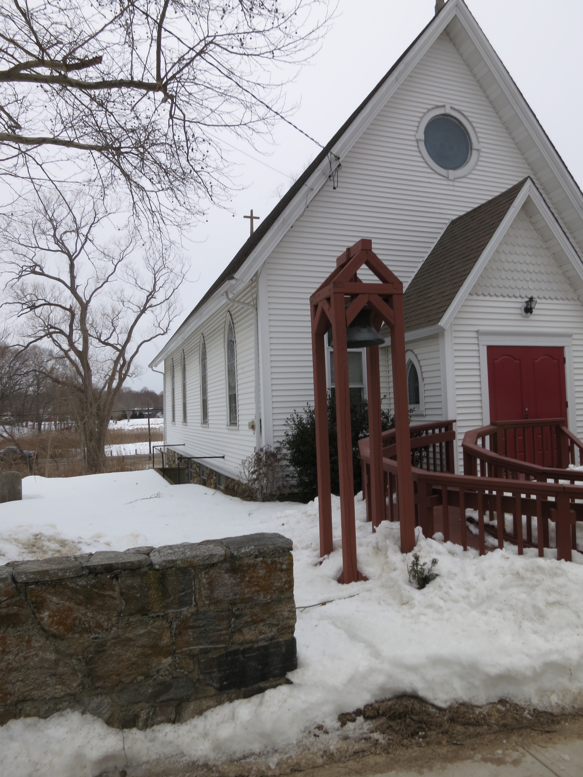 St. Paul's Episcopal Church, Westbrook, CT in the snow
