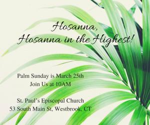 Sunday Eucharist - Palm Sunday